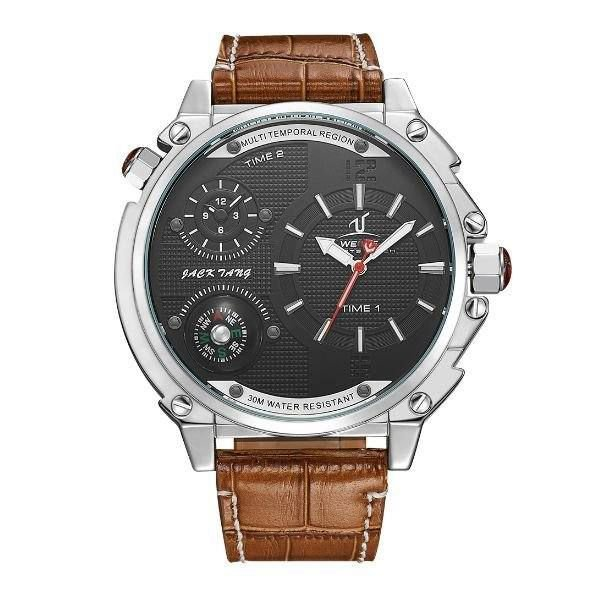 Relógio Masculino Weide Analógico UV-1507 Preto e Prata