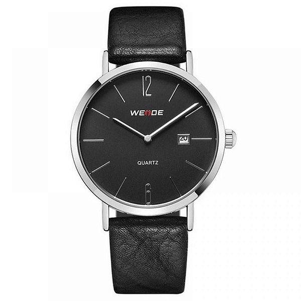 Relógio Masculino Weide Analógico WD007 - Preto e Prata