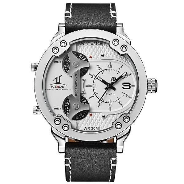 Relógio Masculino Weide Analógico UV-1506 Prata e Branco