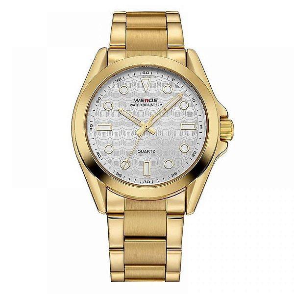 Relógio Masculino Weide Analógico WH-802 - Dourado e Prata