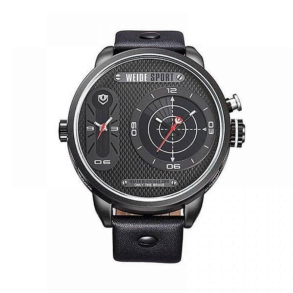 Relógio Masculino Weide Analógico WH-3409 - Preto e Vermelho
