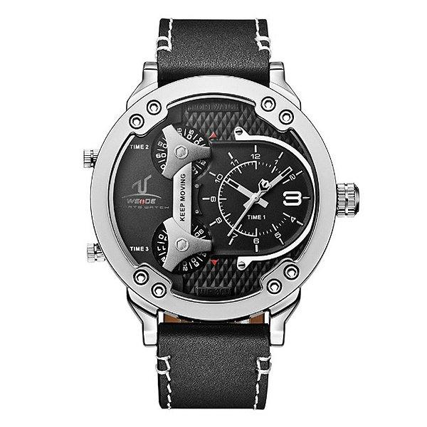 Relógio Masculino Weide Analógico UV-1506 - Prata e Preto
