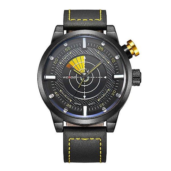 Relógio Masculino Weide Analógico WH-5201 - Preto e Amarelo