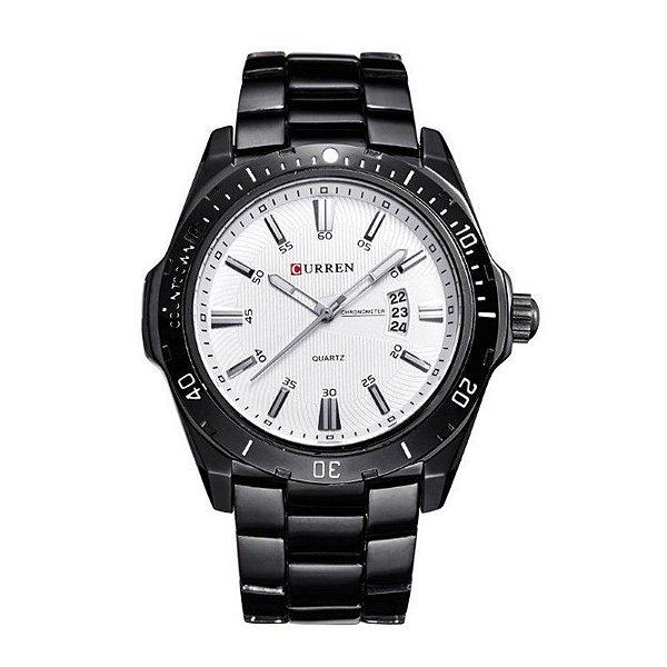 Relógio Masculino Curren Analógico 8110 - Preto e Branco