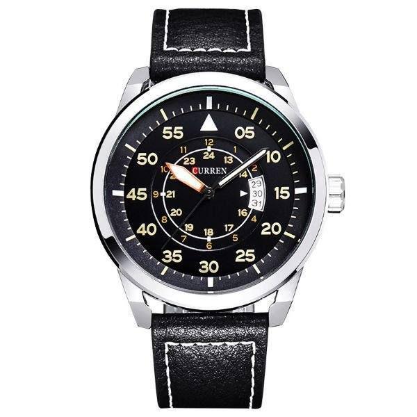 Relógio Masculino Curren Analógico 8210 - Preto e Prata