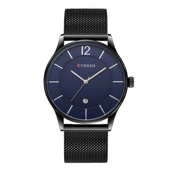 Relógio Masculino Curren Analógico 8231 - Preto, Azul e Prata