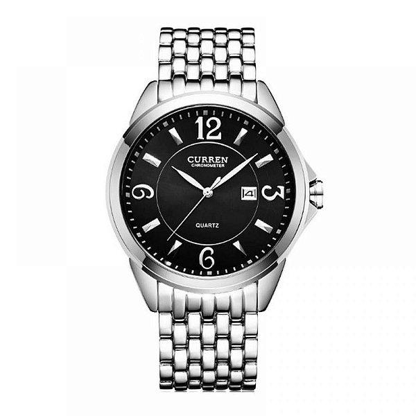 Relógio Masculino Curren Analógico 8271 - Prata e Preto