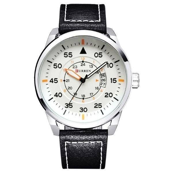 Relógio Masculino Curren Analógico 8210 - Preto e Branco