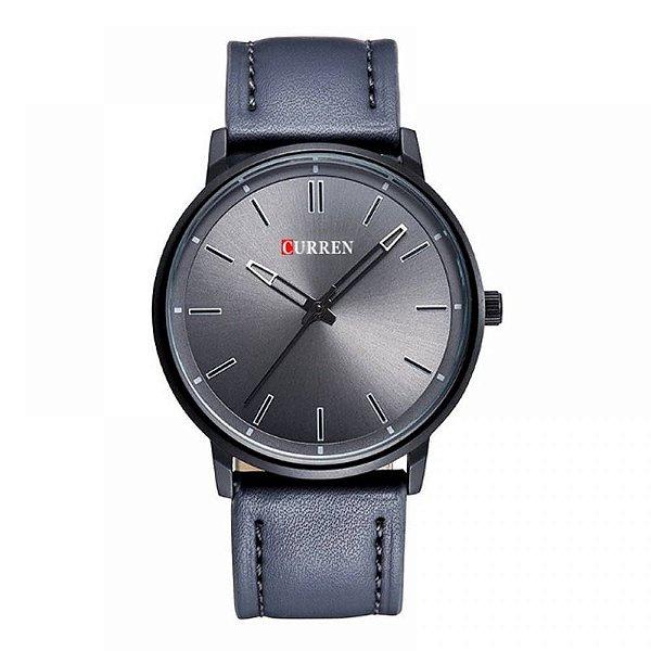 Relógio Masculino Curren Analógico 8233 - Cinza e Preto