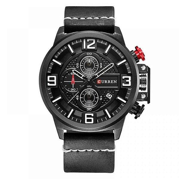 Relógio Masculino Curren Analógico 8278 - Preto e Branco