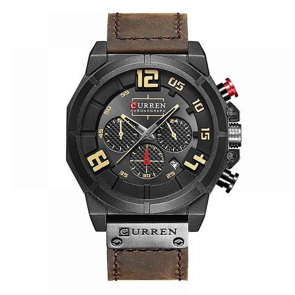 Relógio Masculino Curren Analógico 8287 - Marrom e Preto