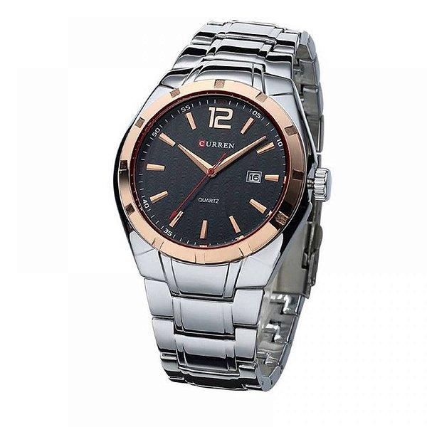 Relógio Masculino Curren Analógico 8103 Dourado e Preto