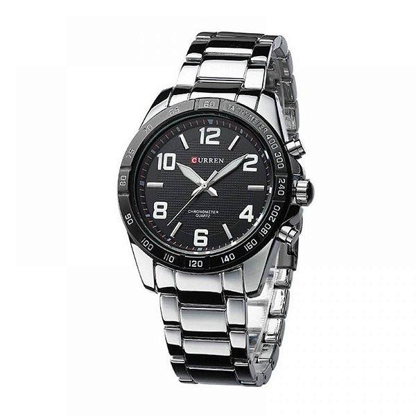 Relógio Masculino Curren Analógico 8170 - Prata e Preto