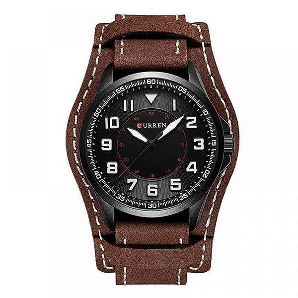 Relógio Masculino Curren Analógico 8279 - Marrom e Preto