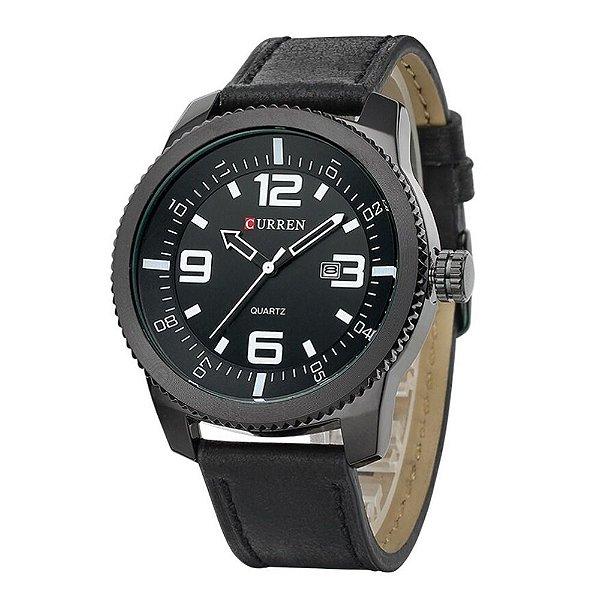 Relógio Masculino Curren Analógico 8180 - Preto