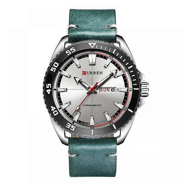 Relógio Masculino Curren Analógico 8272 - Prata e Azul