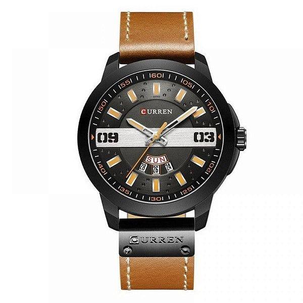 Relógio Masculino Curren Analógico 8286 - Marrom e Preto