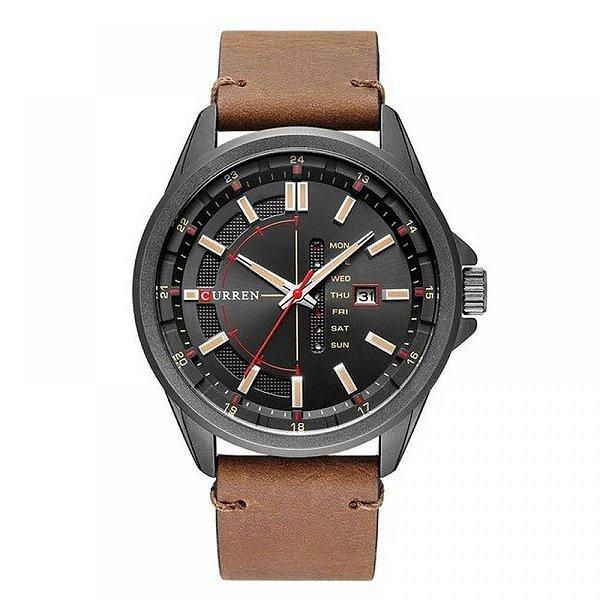 Relógio Masculino Curren Analógico 8307 - Marrom e Preto