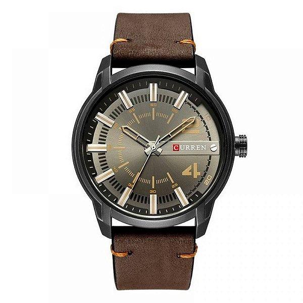 Relógio Masculino Curren Analógico 8306 - Marrom e Preto