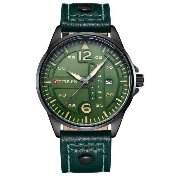 Relógio Masculino Curren Analógico 8224 - Verde e Preto