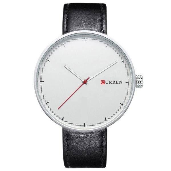 Relógio Masculino Curren Analógico 8223 - Preto, Prata e Branco