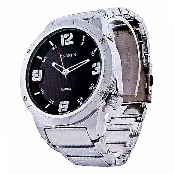 Relógio Masculino Curren Analógico 8111 - Prata e Preto