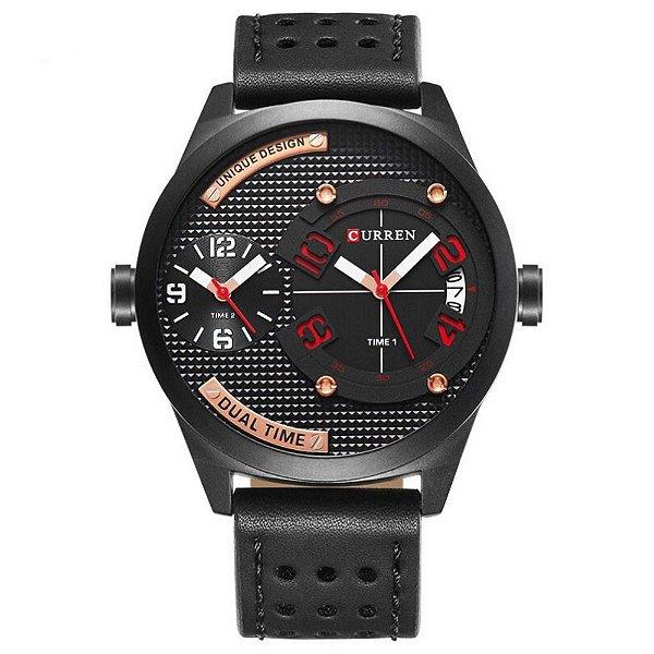 Relógio Masculino Curren Analógico 8252 - Preto
