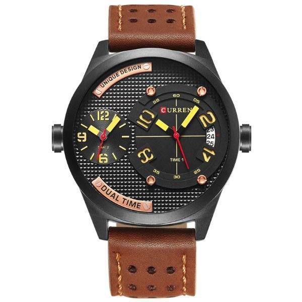 Relógio Masculino Curren Analógico 8252 - Marrom e Preto