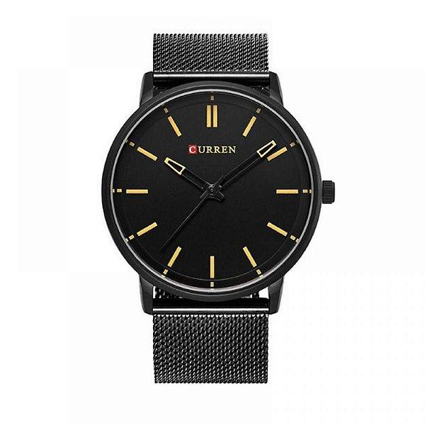 Relógio Masculino Curren Analógico 8233 - Preto e Marrom