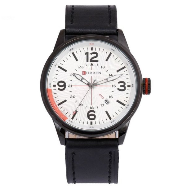 Relógio Masculino Curren Analógico 8215 - Preto e Branco