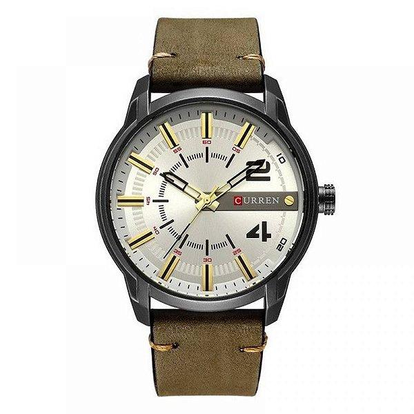 Relógio Masculino Curren Analógico 8306 - Verde e Preto