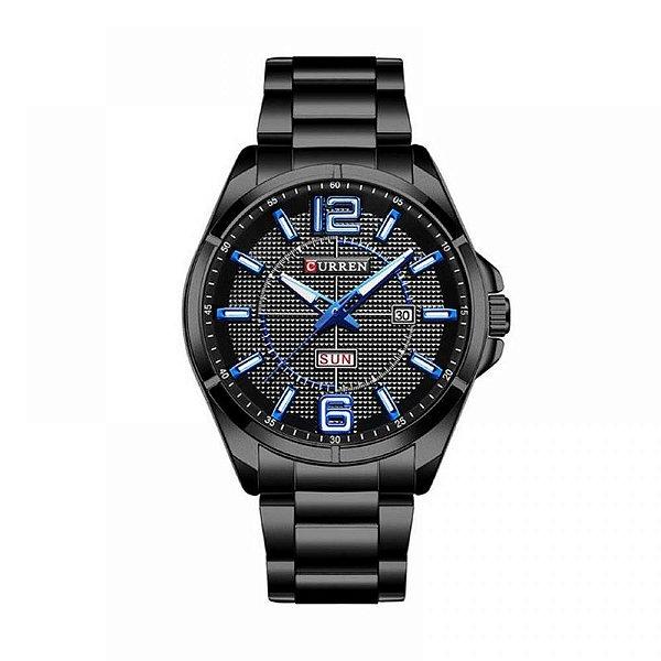 Relógio Masculino Curren Analógico 8271 Preto e Azul