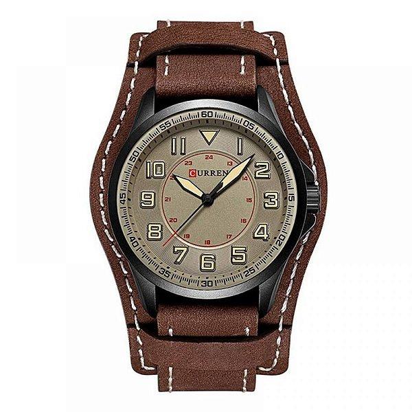 Relógio Masculino Curren Analógico 8279 - Marrom, Preto e Cinza