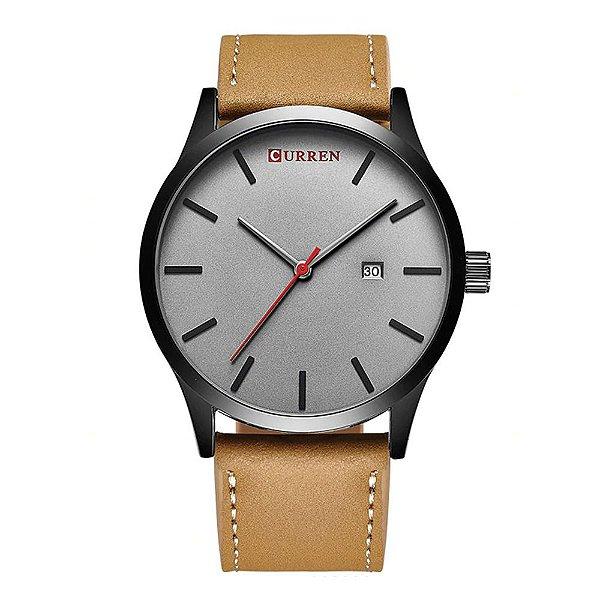Relógio Masculino Curren Analógico 8214 Cinza