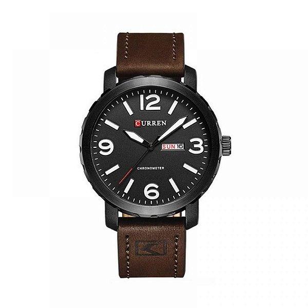 Relógio Masculino Curren Analógico 8273 Preto e Branco