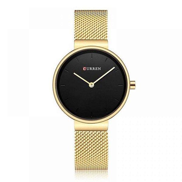 Relógio Feminino Curren Analógico C9016L - Dourado
