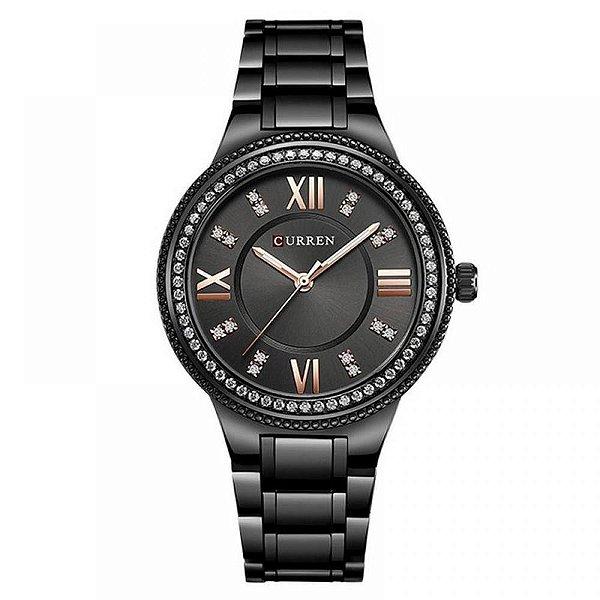 Relógio Feminino Curren Analógico C9004L - Preto