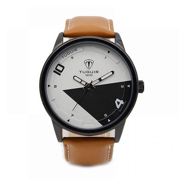 Relógio Masculino Tuguir Analógico 5050 - Marrom e Preto