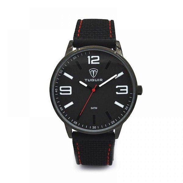Relógio Masculino Tuguir Analógico 5046 Preto e Vermelho