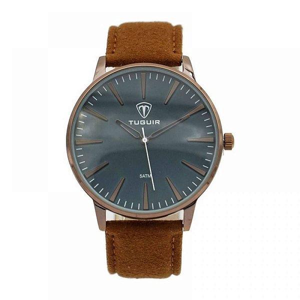 Relógio Masculino Tuguir Analógico 5273G - Marrom e Bronze
