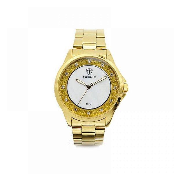 Relógio Feminino Tuguir Analógico 5025 Dourado