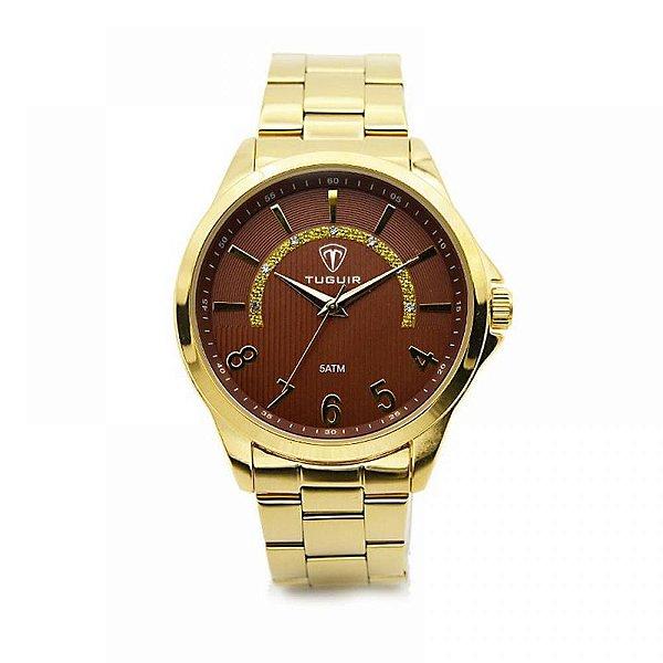 Relógio Feminino Tuguir Analógico 5021 - Dourado
