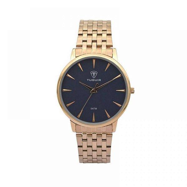 Relógio Feminino Tuguir Analógico 5041 - Rose e Azul
