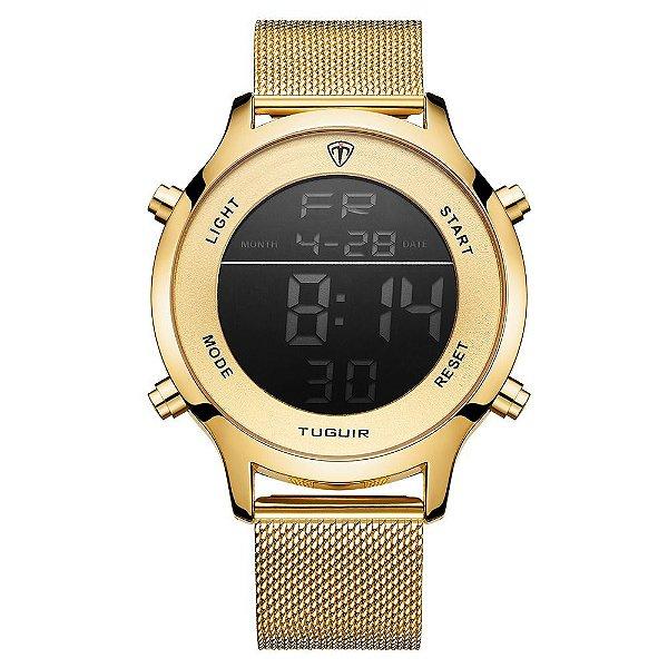 Relógio Unissex Tuguir Digital TG101 - Dourado
