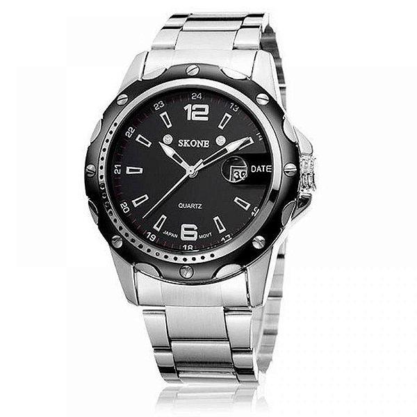 Relógio Masculino Skone Analógico 7147BG - Preto