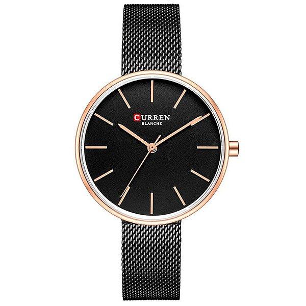 Relógio Feminino Curren Analógico C9042L - Preto