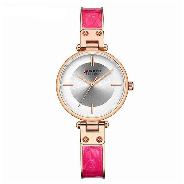 Relógio Feminino Curren Analógico C9058L - Rose e Rosa