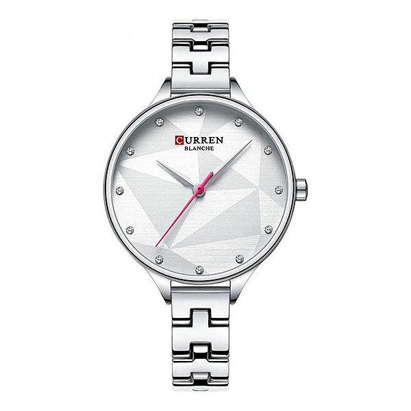 Relógio Feminino Curren Analógico C9047L - Prata