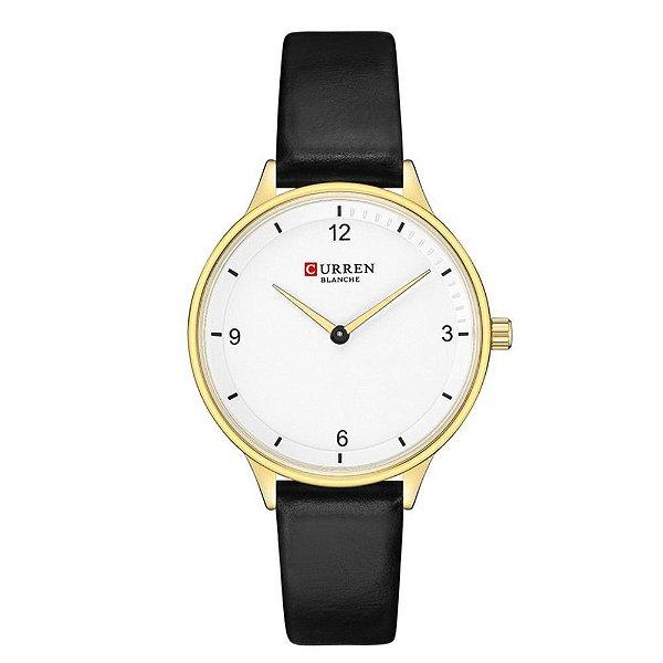 Relógio Feminino Curren Analógico C9039L - Dourado e Preto