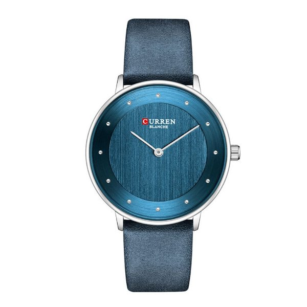 Relógio Feminino Curren Analógico C9033L - Azul e Prata